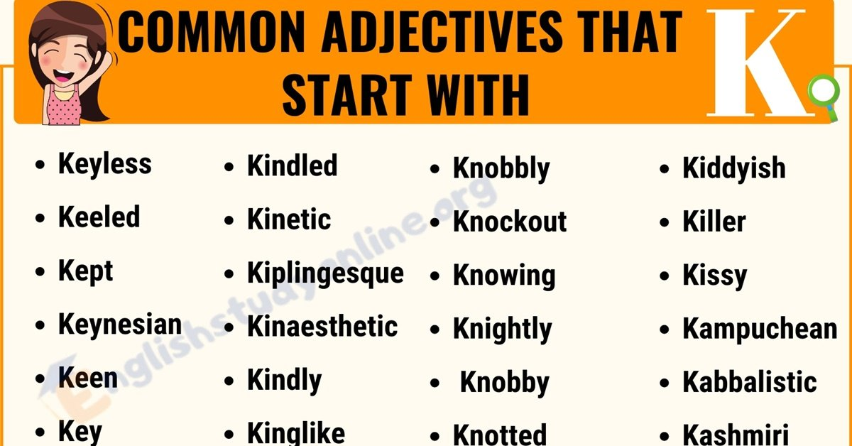 70 Interesting Adjectives That Start with K with Useful Examples 9