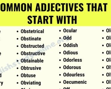 Top 320+ Popular Adjectives That Start With O with ESL Images 8