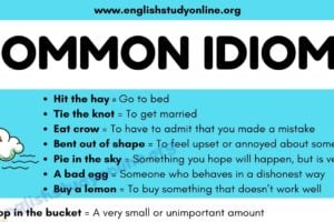 What Is An Idiom? List of 100 Popular Idioms with Examples in English 14