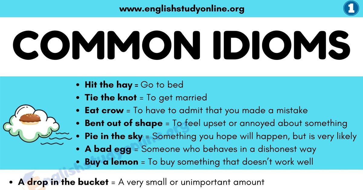 What Is An Idiom? List of 100 Popular Idioms with Examples in English 1