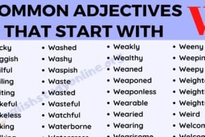 250 Popular Adjectives That Start with W for ESL Learners 12