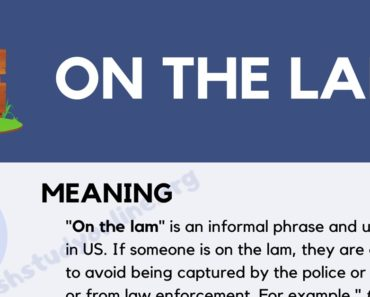 On the Lam: What Does This Popular Idiom Mean? 7