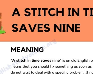 A Stitch in Time Saves Nine: Definition, Useful Examples & Synonyms 3