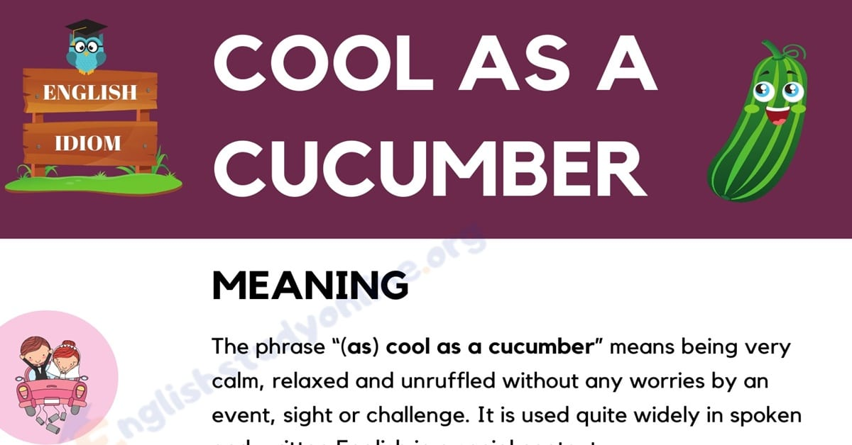(As) Cool As A Cucumber: Definition, Origin with Useful Example Sentences 3