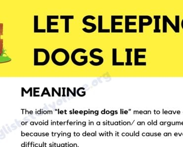 Let Sleeping Dogs Lie: Definition, Origin with Useful Examples 6