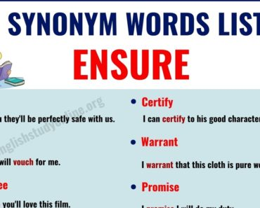 Ensure Synonym |  15 Useful Words for Ensure with Examples 4