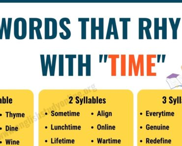 100+ Useful Words That Rhyme With Time in English 8