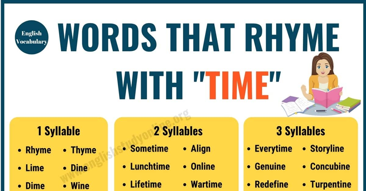 100+ Useful Words That Rhyme With Time in English 1