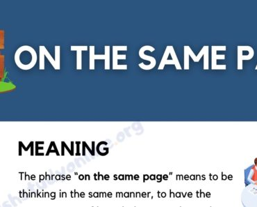 "What Does The Useful Idiom ""On The Same Page"" Mean? 4"
