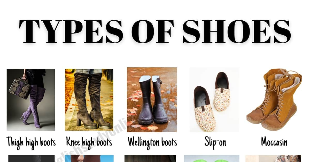 Types of Shoes: 53 Useful Names for Shoes with ESL Images 6
