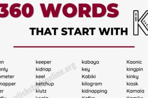 350+ Words that Start with K with Helpful Examples 5