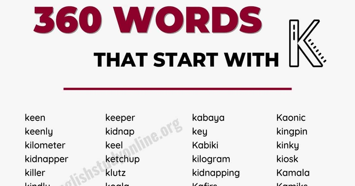 350+ Words that Start with K with Helpful Examples 11