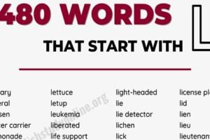 640+ Words that Start with L with Useful Examples 4