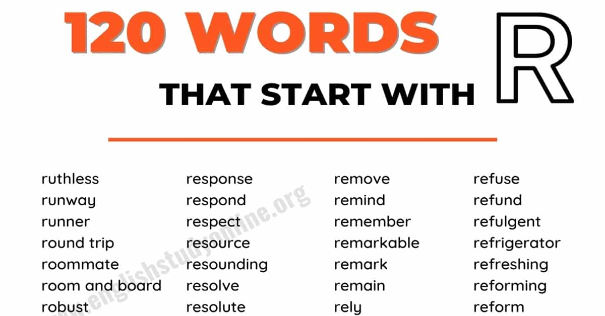195+ Words that Start with R with Useful Examples 1