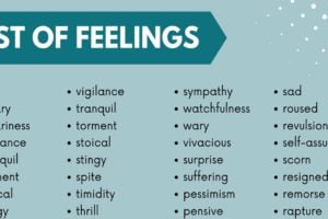 List of Feelings: 250+ Feeling Words with Useful Examples 9