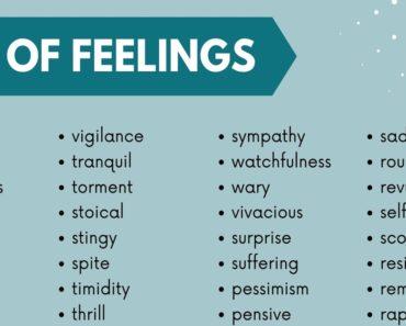 List of Feelings: 250+ Feeling Words with Useful Examples 5