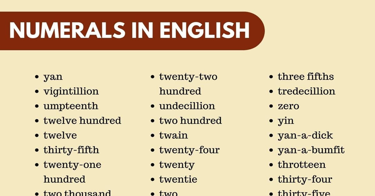 English Numerals: How to Express Numbers in English 2