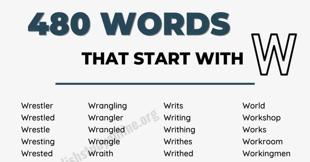 1400 Absolutely Good Words that Start with W in English 1