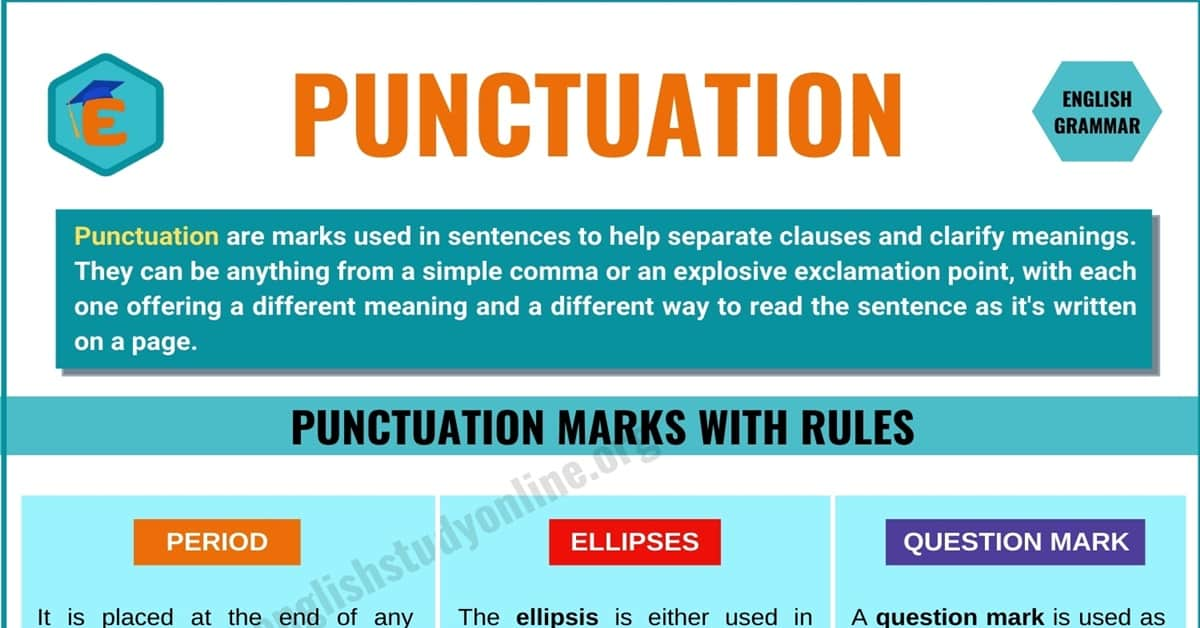 Punctuation: Definition and Rules of Different Types | Helpful Examples 4