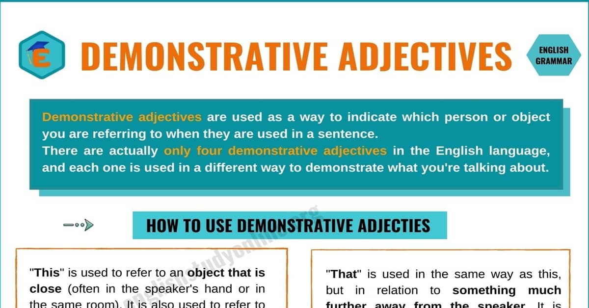 Demonstrative Adjectives | Definition, Types and Remarkable Examples 2