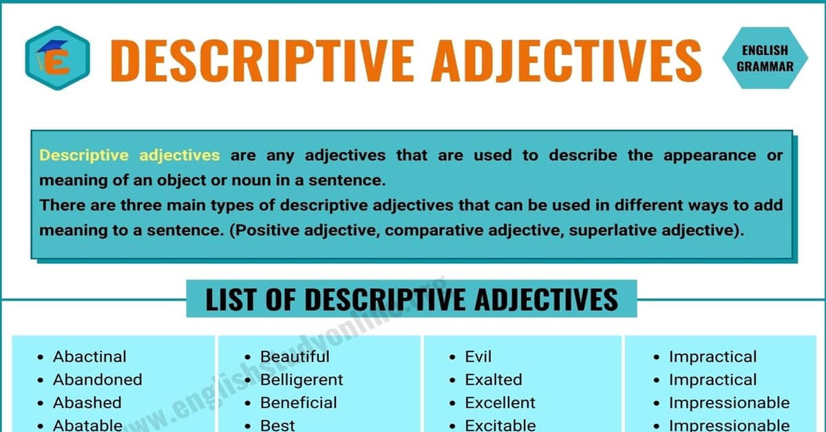 What Are Descriptive Adjectives? Types and Some Popular Examples 3